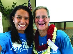 Author Mapuana Taamu with her mentor Teepa Snow, founder of the Positive Approach® to Care philosophy.