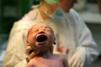 c-section screaming baby
