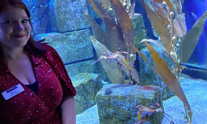 Tamsin Mutton-Mcknight works at aquarium Sea Life