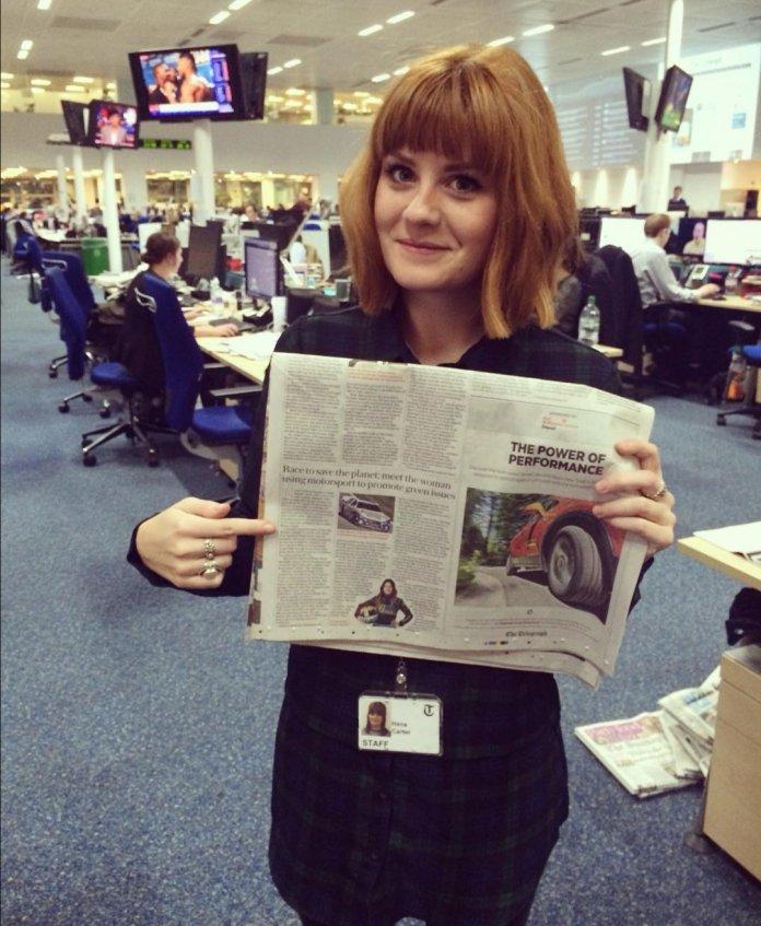Hana in the newsroom before going freelance