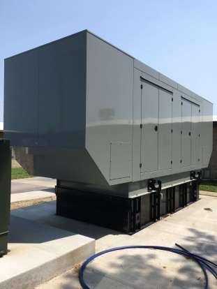 large emergency backup generator