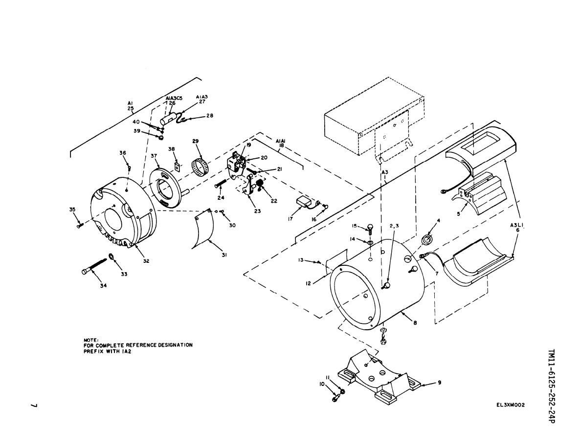 Figure 2 Motor Generator Pu 724 G Northfield Electric Exploded View Sheet 1 Of 2