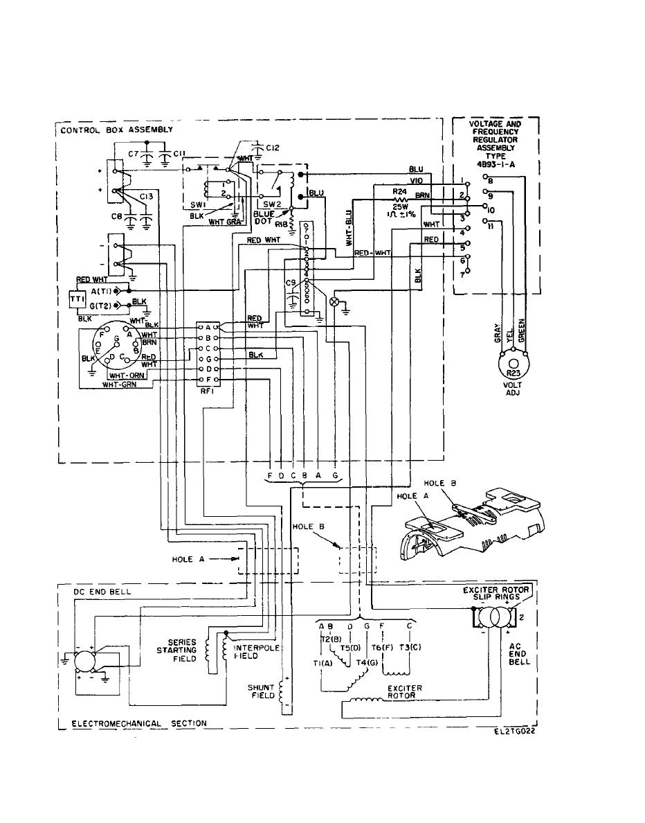 Figure 4-2.1. Interconnection wiring diagram for motr