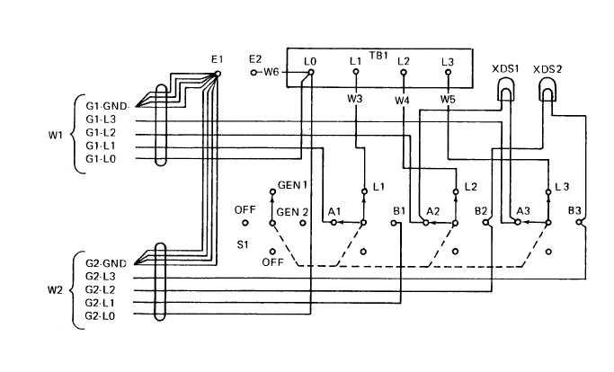 Figure 4-7. 5-Wire Switch Box Schematic Diagram