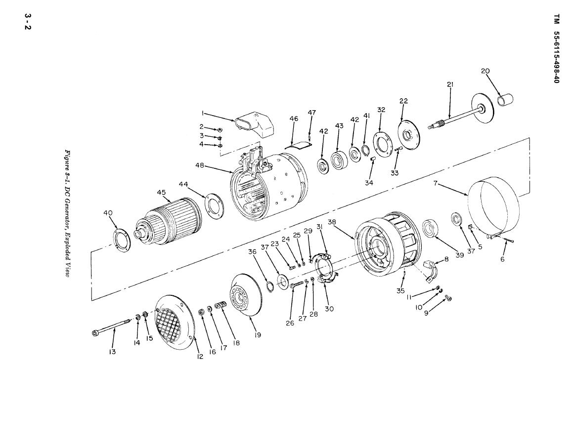 Figure 3-1. DC Generator, Exploded View