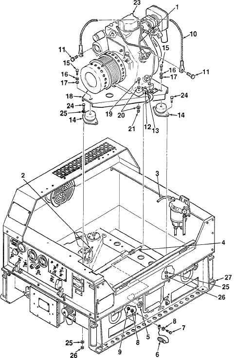 Figure 5-1. Engine / Alternator Assembly (Sheet 2 of 3)