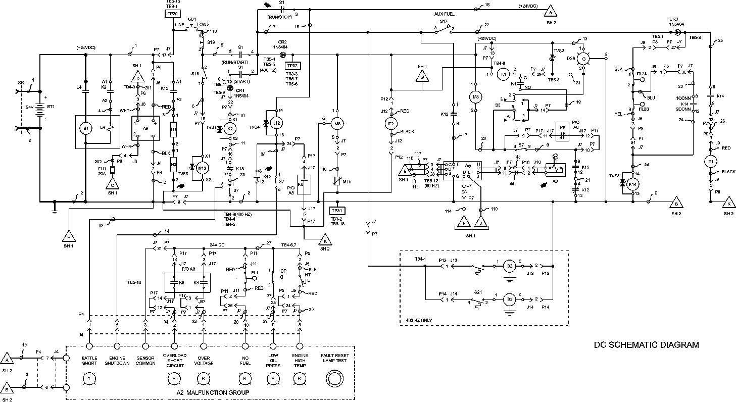 Figure Fo 1 Generator Set Electrical Schematic Sheet 2 Of 2