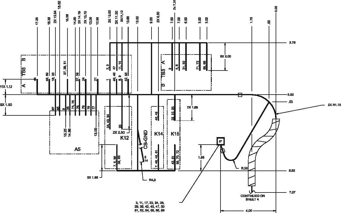 Figure FO-5. Control Box Wiring Harness Diagram, 60 Hz