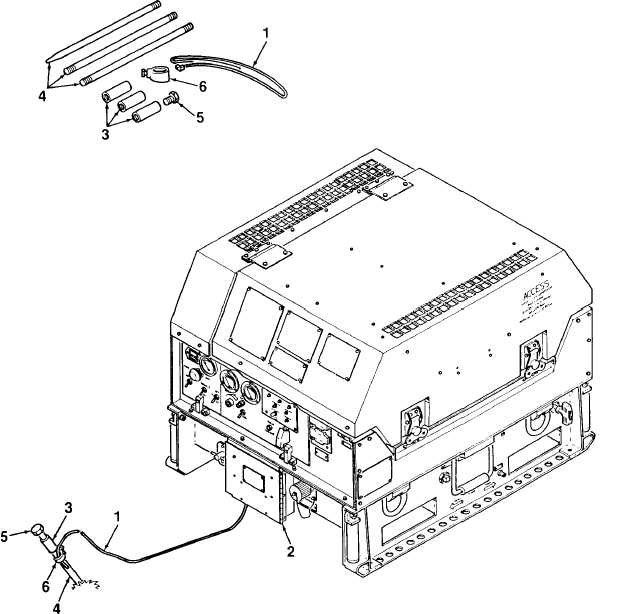 Figure 2-2. Ground Rod and Cable Installation