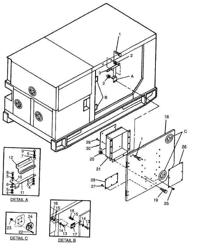 Figure 2-6. Generator Set Access Doors