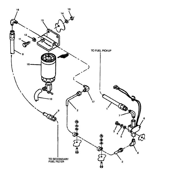 FIGURE 2-22 Fuel Filter/Water Separator and Transfer Pump