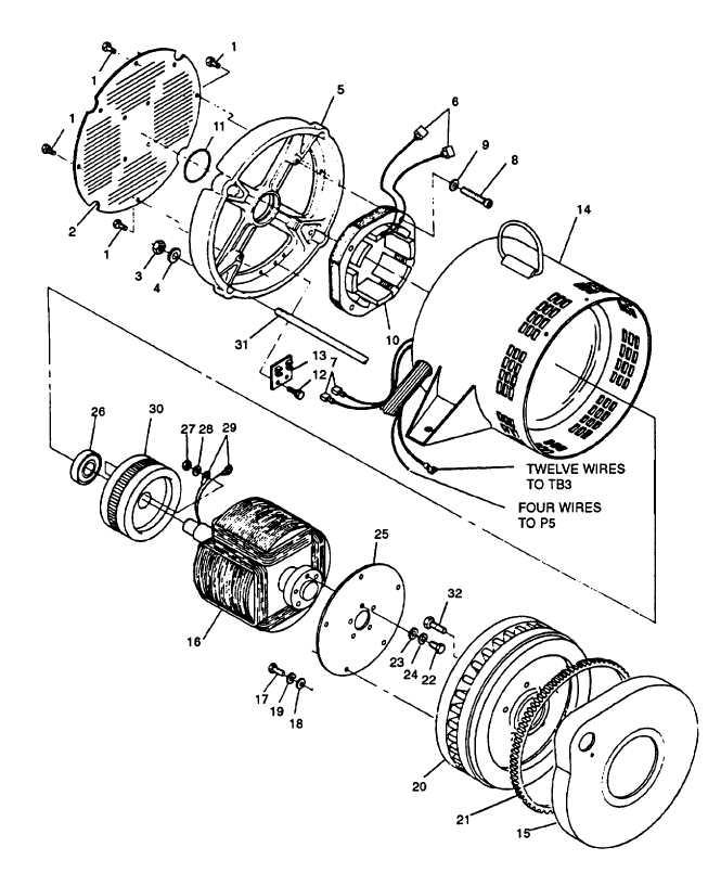 FIGURE 4-24. Generator Assembly (MEP-803A)