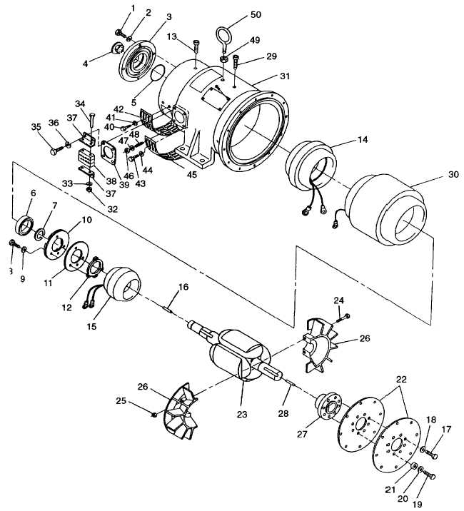 FIGURE 4-10. Generator Assembly (MEP-804A)