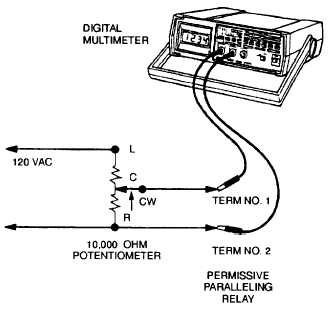 FIGURE 2-15. Permissive Paralleling Relay Test Set-up