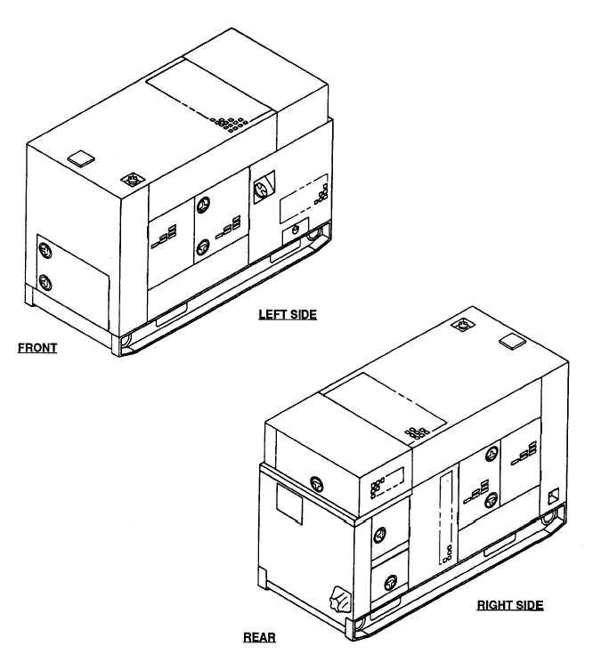 FIGURE 1-1. Generator Set, 60 kW, Tactical Quiet