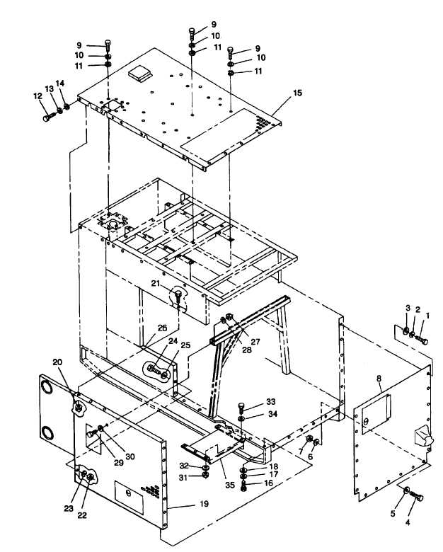 FIGURE 4-11. Generator Set Housing and Rear Forklift Guide