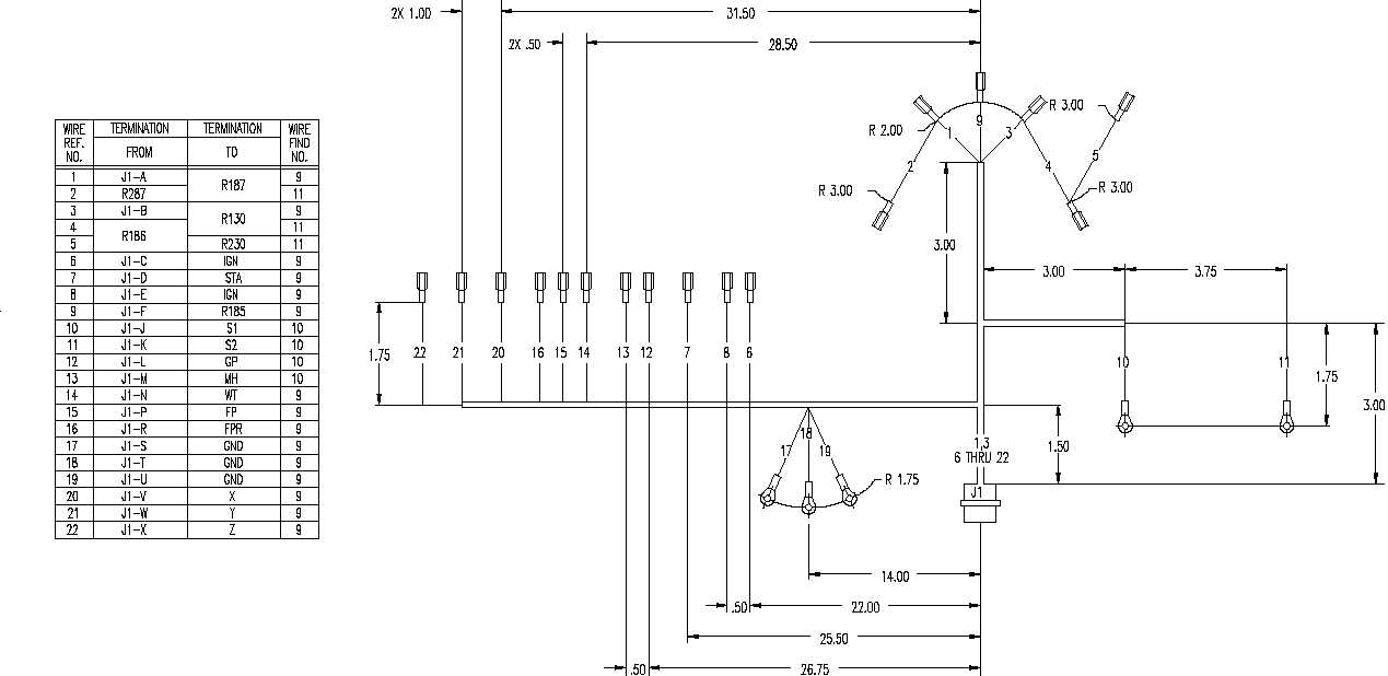 Figure FO-4. Wiring Harness, J1, Wiring Diagram