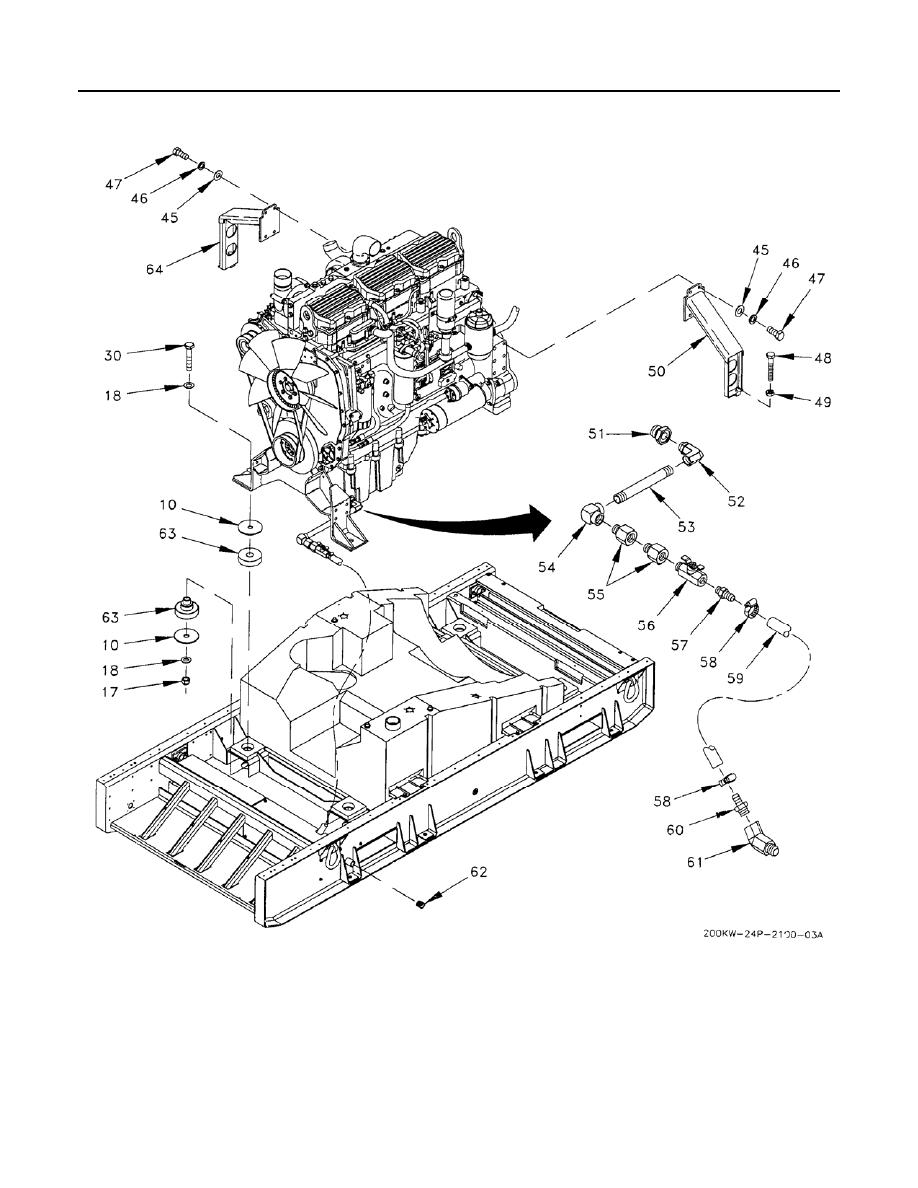 Figure 16. Engine Generator Base Assembly (Sheet 3 of 4