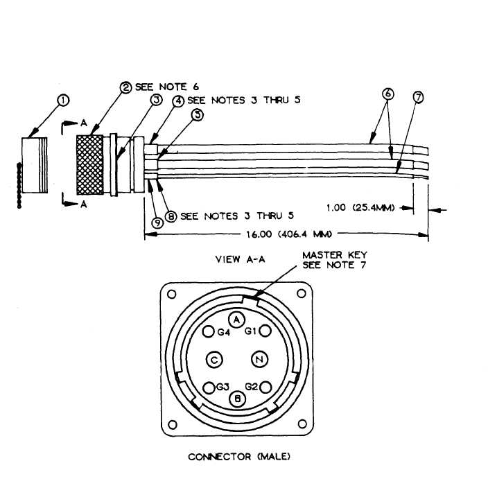 FIGURE F-5. 200-amp input connector assembly. (sheet 1 of 2)