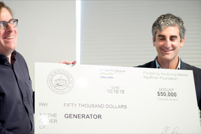 Generator wins Mayor's Prize for Entrepreneurship