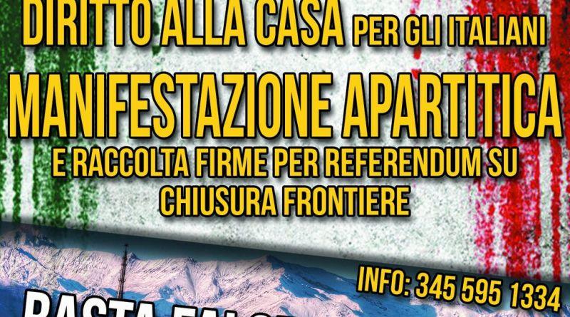 Manifestazione Torino sicurezza diritto alla casa chiusura delle frontiere