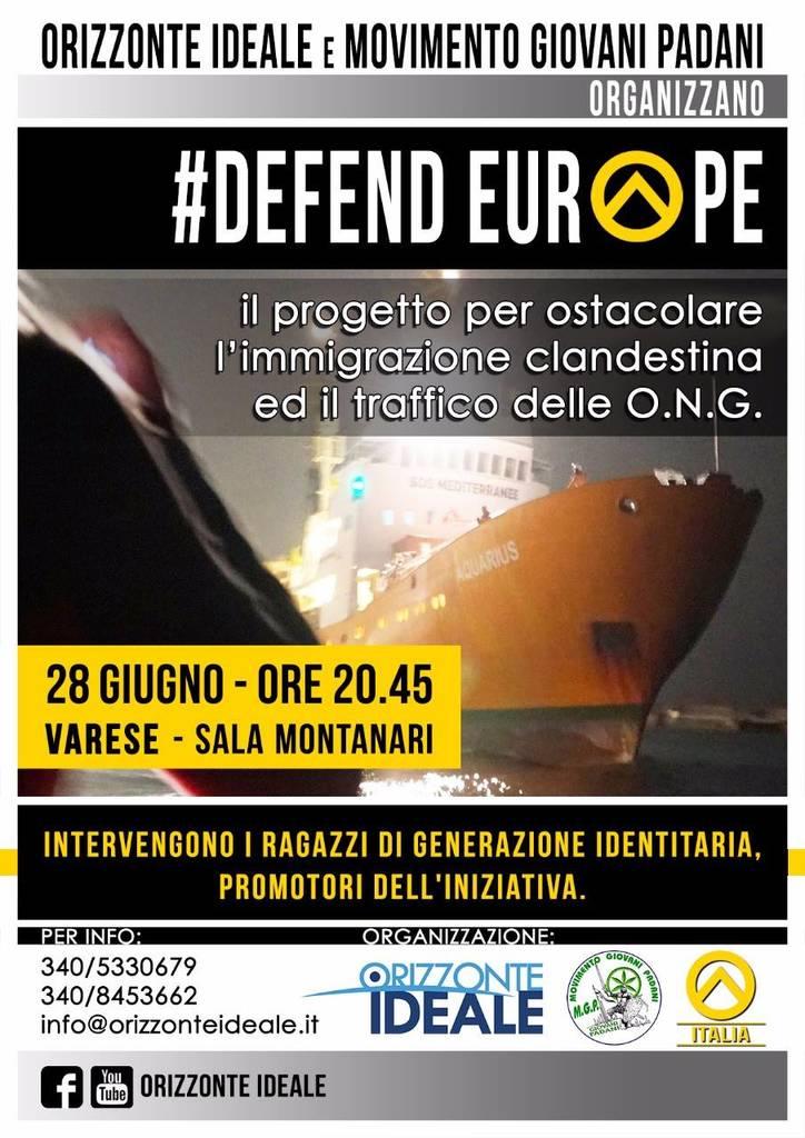 GID Defend Europe Varese locandina