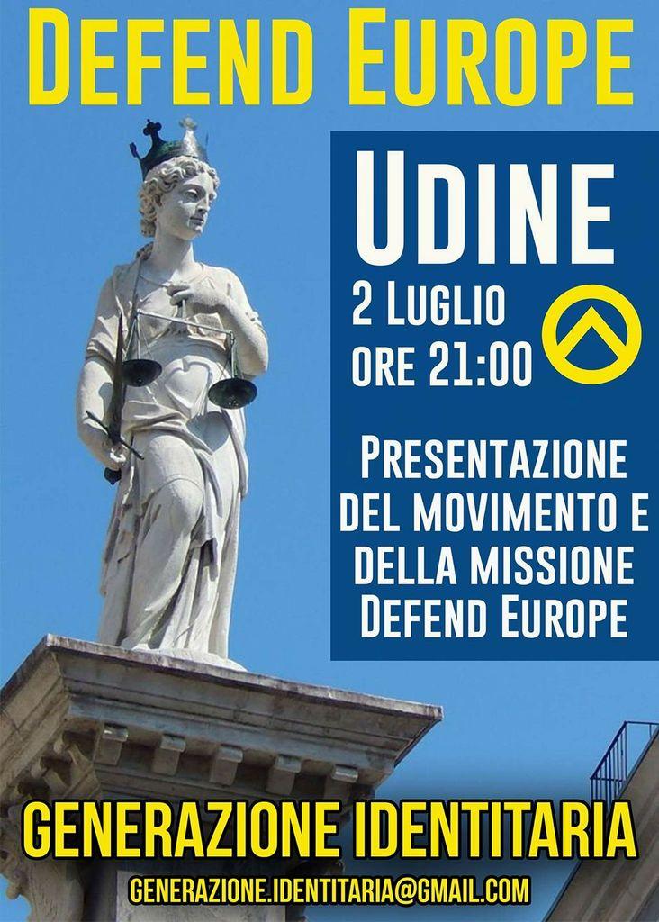 GID Defend Europe tour Udine locandina