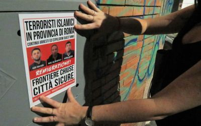 Anche sulla Tuscolana (Roma): Frontiere chiuse, città sicure!