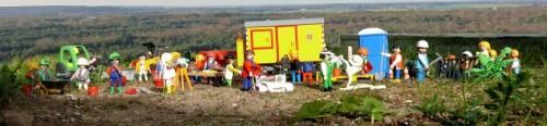 didattica archeologica,bonne pioche,didattica e solidarietà,archeologia in francia,diorama playmobil