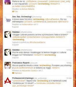 L'ashtag #archeoblog è entrato nei trendtopic durante l'Incontro di Paestum. Qui solo alcuni dei primi tweet lanciati