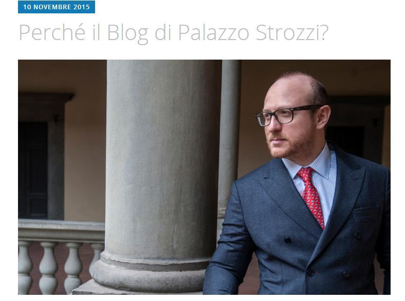 Il primo post del blog di Palazzo Strozzi firmato dal direttore Galansino