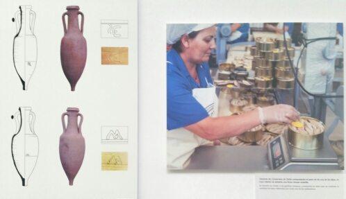 Antico e moderno a confronto: anfore romane per il trasporto del garum rinvenute a Baelo Claudia e la lavorazione del tonno in scatola in un'azienda di Tarifa