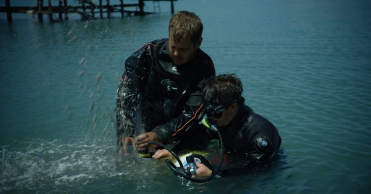 Coring in shallow waters was achieved by using a mini airlift and a Beecker sampler by the Black sea MAP team (EEFE).