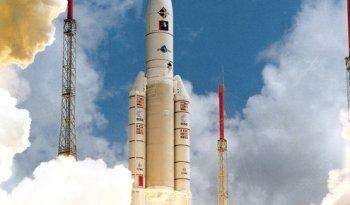 Ariane rocket launch.