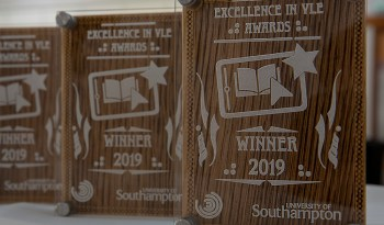 Excellence in VLE Awards trophies 2019