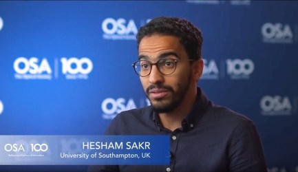 Hesham Sakr talks to the OSA