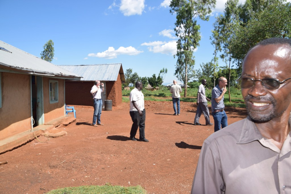 Mr. Okotto-Okotto with the OneHealthWater team in one of the study villages