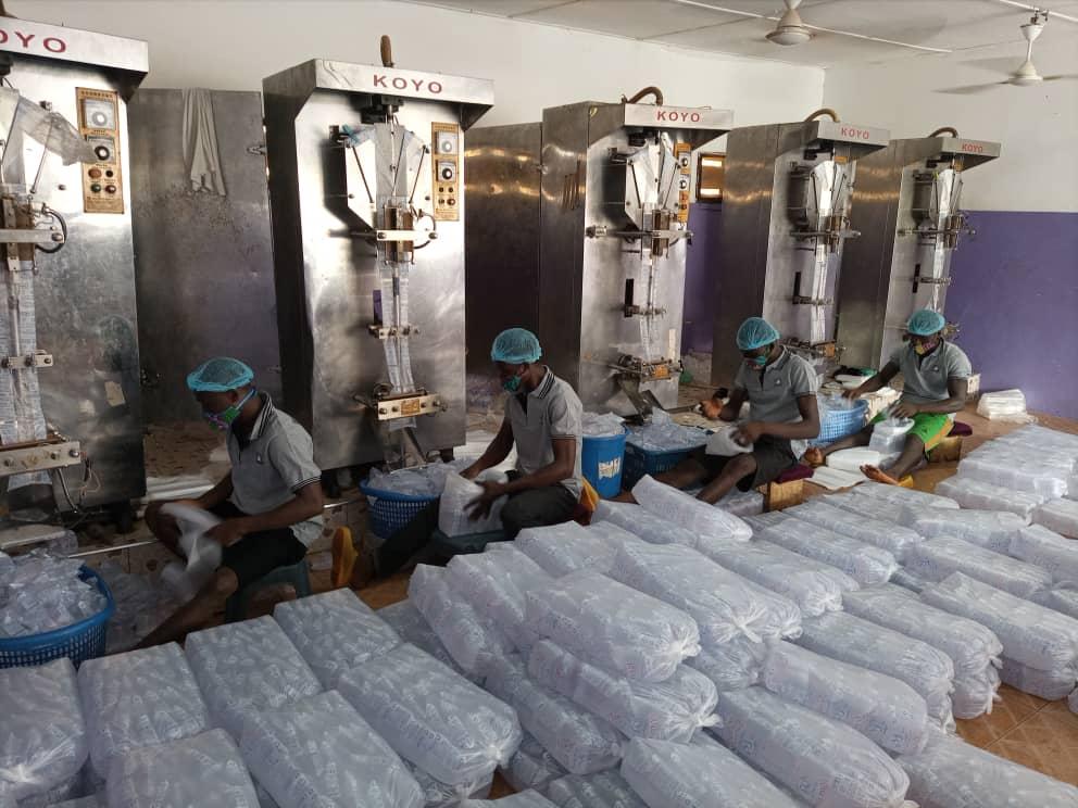 Sachet water production plant in Greater Accra (photo credit: Dr. Mawuli Dzodzomenyo, University of Ghana)