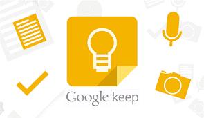 Screenshot of Google Keep.