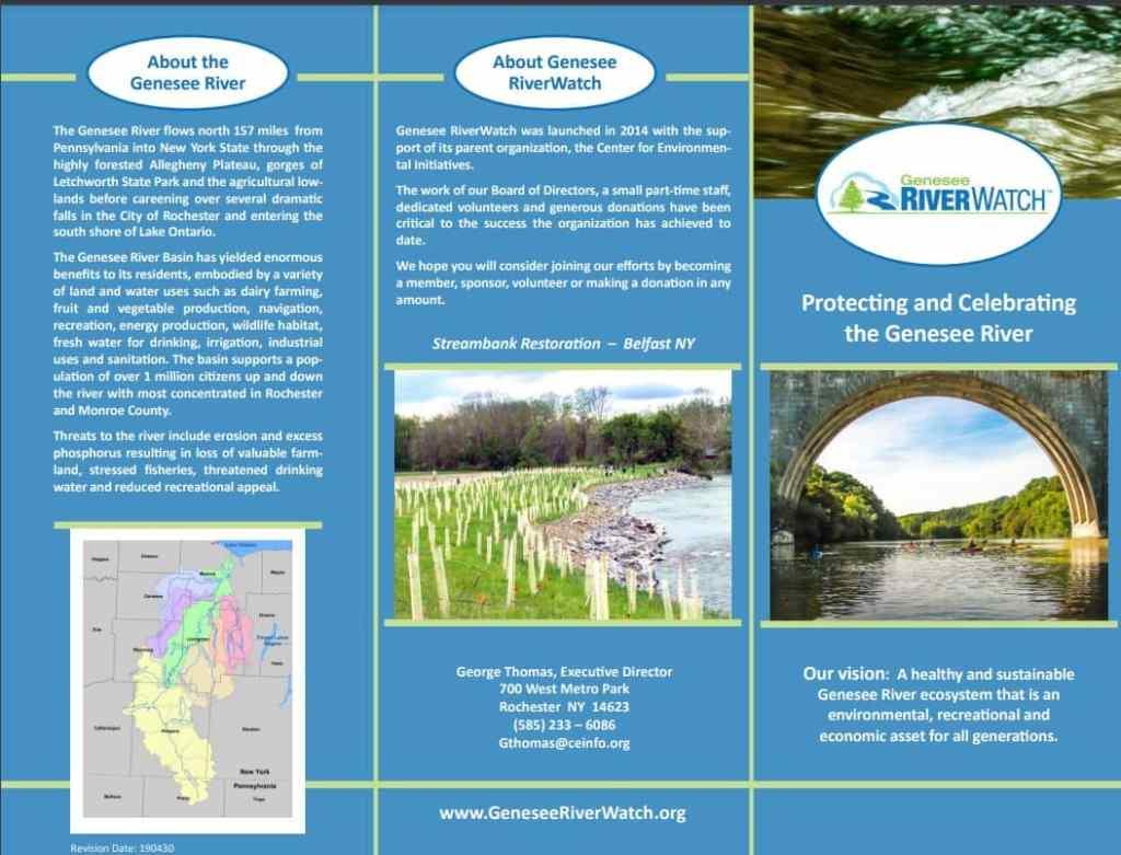 Genesee RiverWatch Trifold Brochure