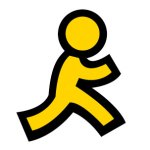 AOL running man logo