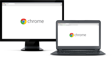 A desktop and laptop running Google Chrome.