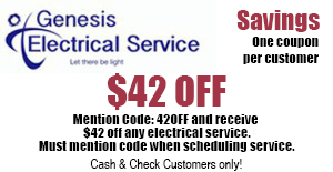 $42 Off Electrical Service