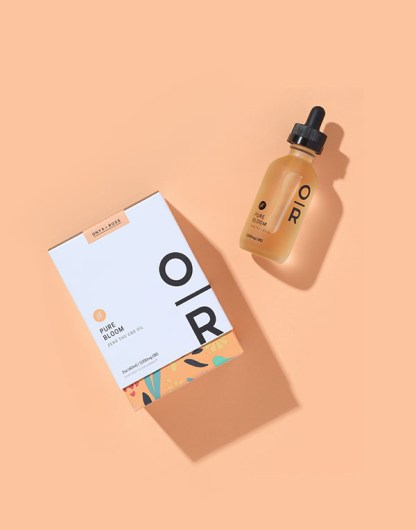 Pure Bloom Orange Broad Spectrum CBD Oil by Onyx & Rose color