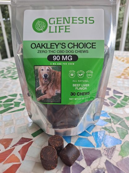 Oakley's Choice CBD Dog Chews Front