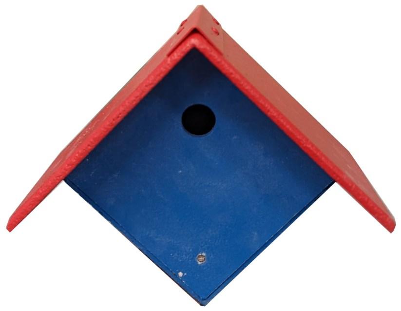 Blue garden nest box