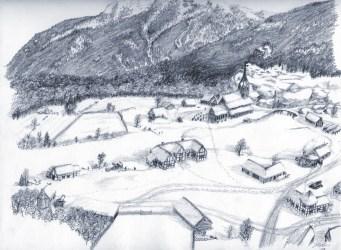 Medieval village in winter Gene s Worlds