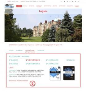 página con la información de los libros de texto, responsive y diseño atractivo para buena experiencia de usuario