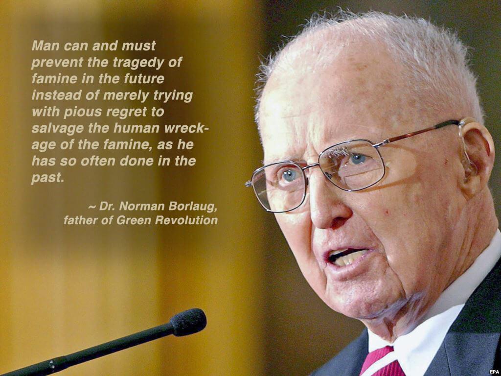 Norman Borlaug, Father Of The Green Revolution Genetic