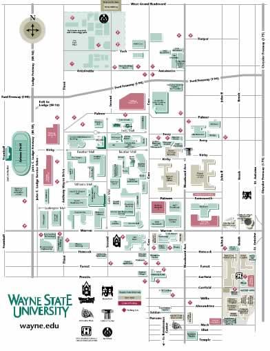 Wayne State University Campus Map : wayne, state, university, campus, Directions, Center, Molecular, Medicine, Genetics